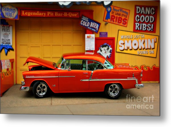 Hot Rod Bbq Metal Print