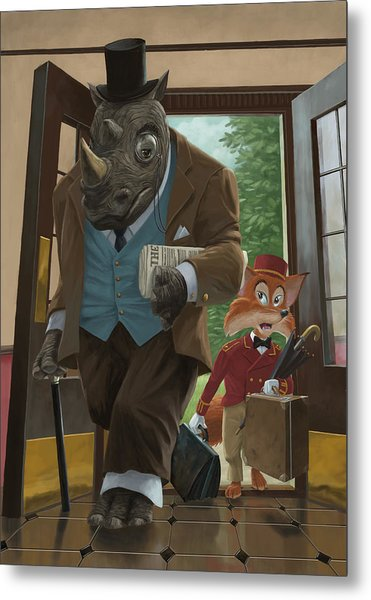Hotel Rhino And Porter Fox Metal Print