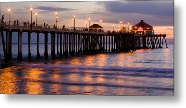 Huntington Beach Pier Metal Print by Charlie Hunt