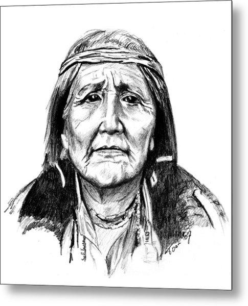 Hupa Woman Metal Print