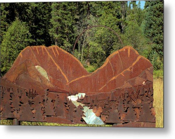 Hyalite Canyon Sculpture Metal Print