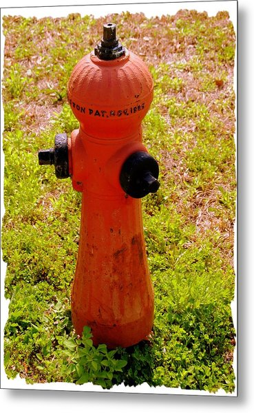 Hydrant 1885 Metal Print by Andrew Armstrong  -  Mad Lab Images