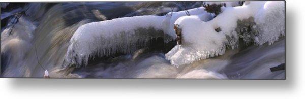 Icy Stream Metal Print by David Bishop