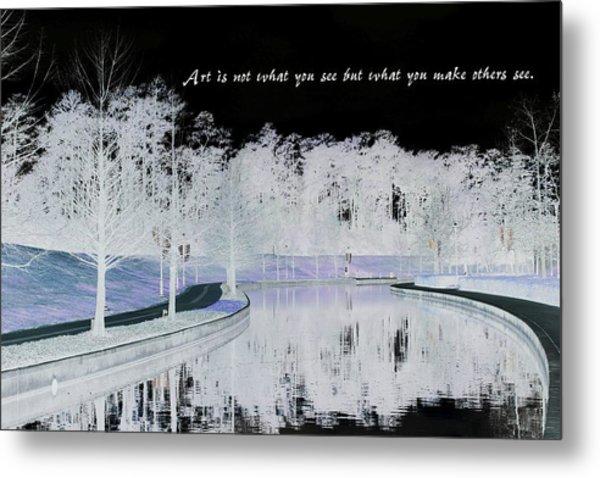 Icy Waterway Metal Print