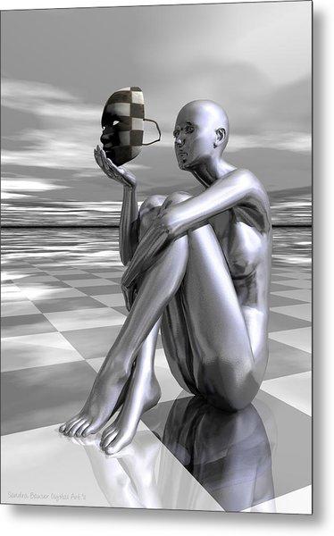 Metal Print featuring the digital art Identity by Sandra Bauser Digital Art