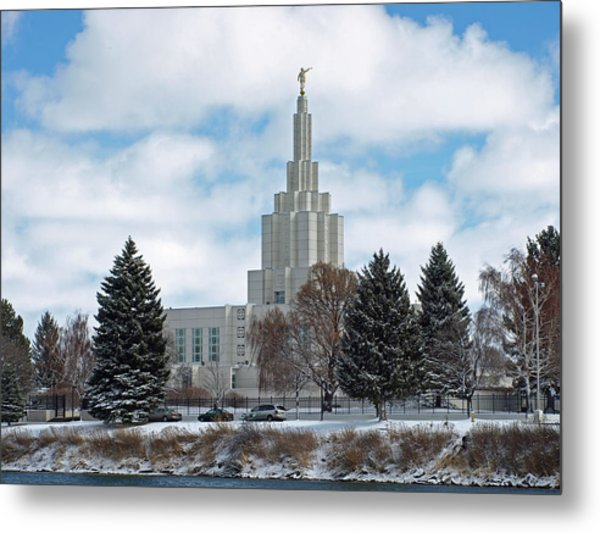 If Temple After Snow Metal Print