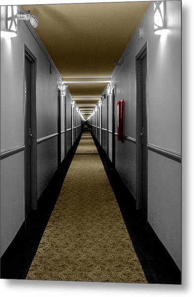 In The Long Hall Metal Print