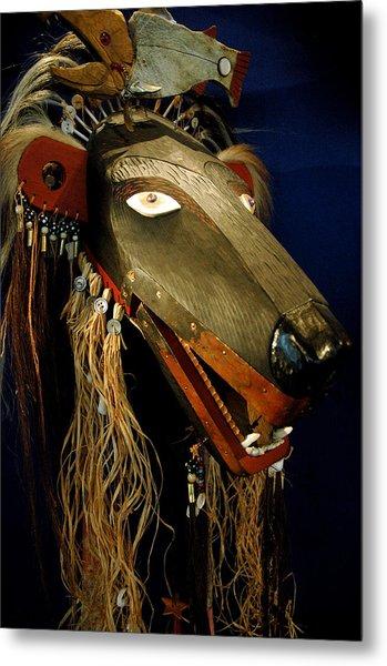 Indian Animal Mask Metal Print