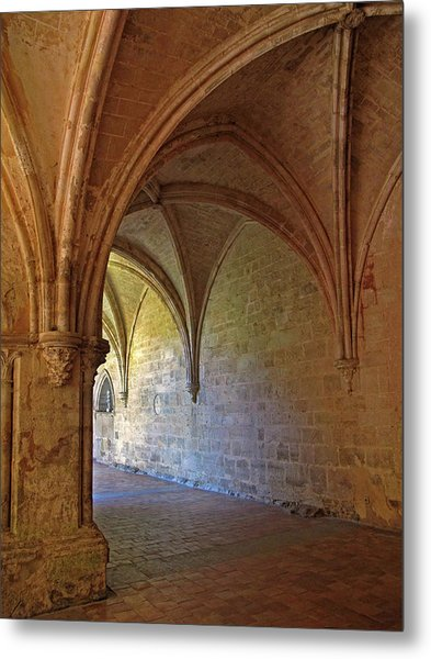 Inside A Monastery Dordogne France  Metal Print