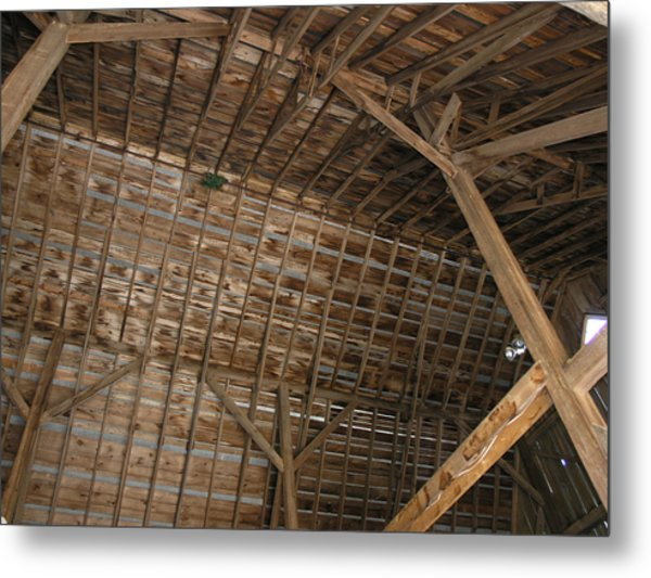 Inside Of The Barn Metal Print by Janis Beauchamp