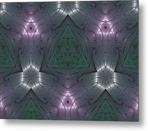 Inside The Crystal Metal Print by Ricky Kendall