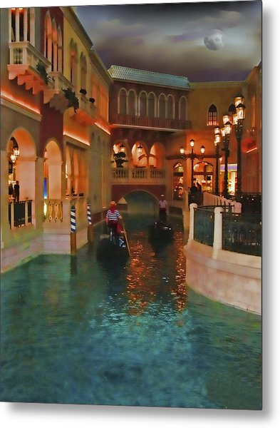 Inside The Venetian Casino Las Vegas Metal Print