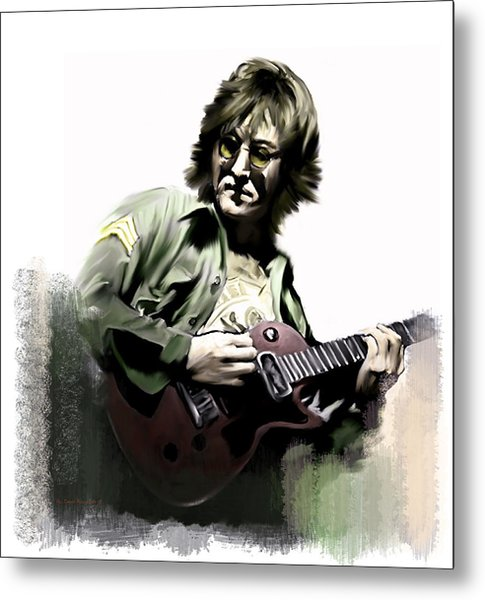 Instant Karma  John Lennon Metal Print by Iconic Images Art Gallery David Pucciarelli