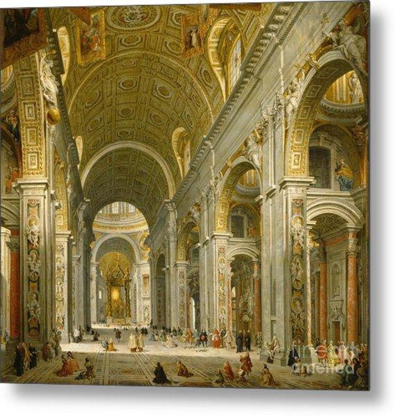 Interior Of St. Peter's - Rome Metal Print