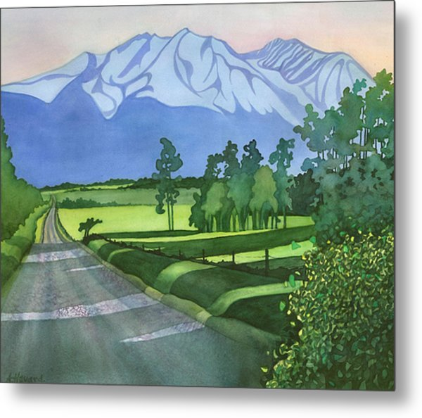 Into The Valley Metal Print