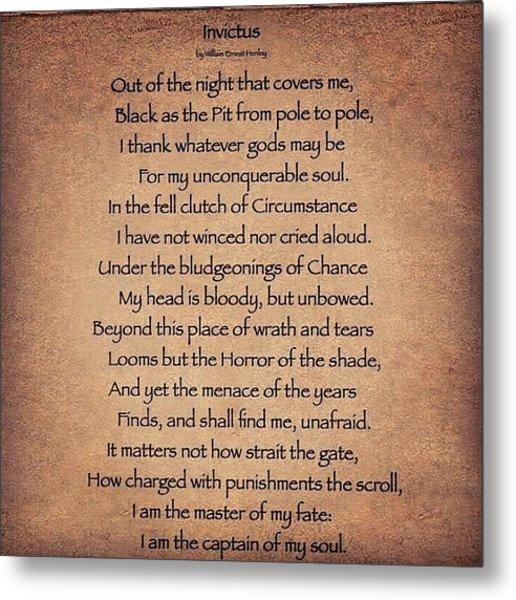 Invictus #poem Metal Print