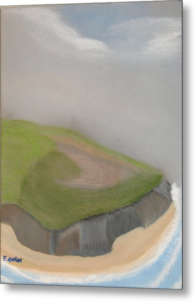 Ireland Cliffs Metal Print by Edwin Long