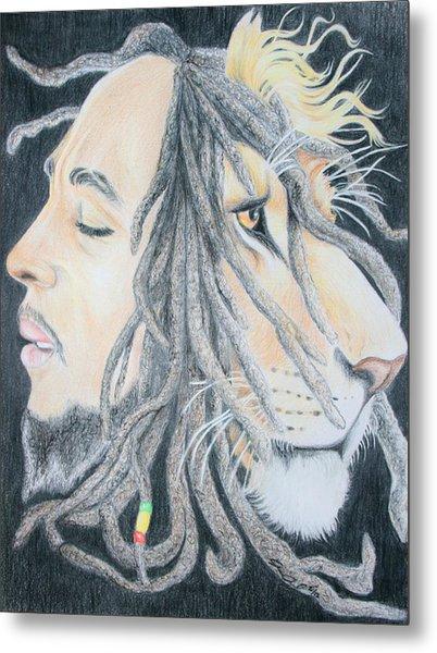 Iron Lion Zion Metal Print