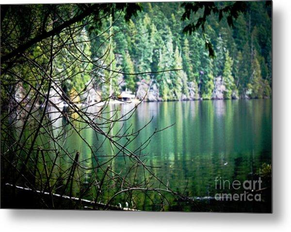 Island Lake Vignette Metal Print