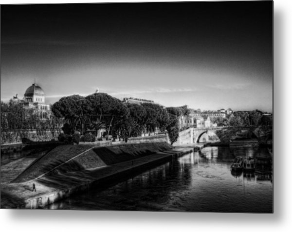 Isola Tiberina Metal Print by Brian Thomson