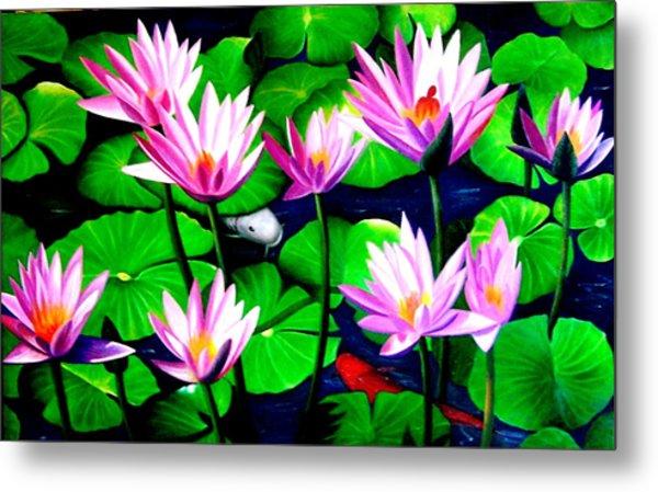 It Was Just Like A Lotus Flower Unfolding  Metal Print by Yuki Othsuka
