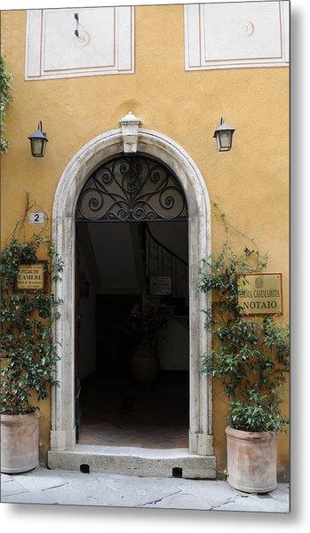 Italy - Door Thirteen Metal Print