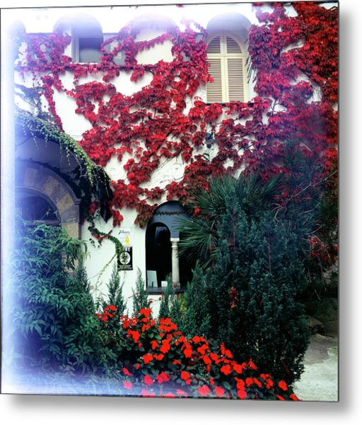 Ivy Flames Ravello Italy Metal Print by Martin Sugg