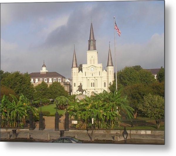 Jackson Square Morning Metal Print by Jack Herrington