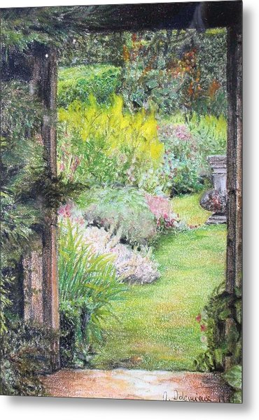 Jardin Metal Print by Muriel Dolemieux