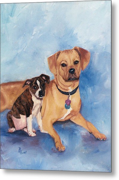Jaz And Lily Metal Print by Brenda Thour