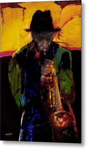 Jazz Man 3 Metal Print by James VerDoorn