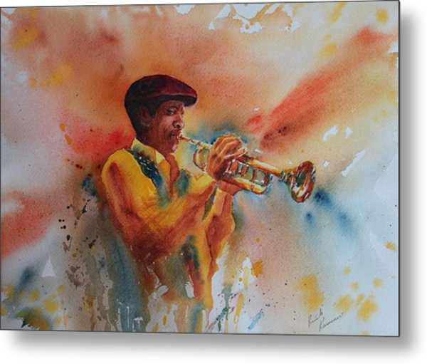 Jazz Man Metal Print