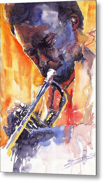 Jazz Miles Davis 9 Red Metal Print