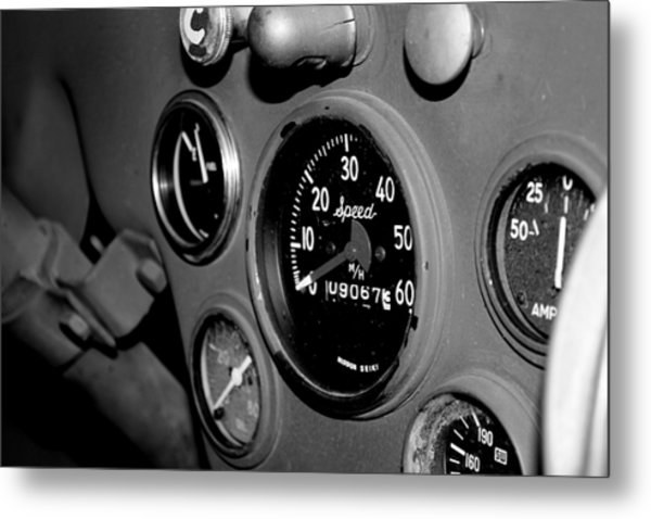 Jeep Gauges Metal Print