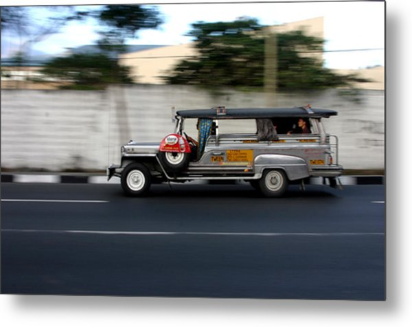 Jeepney 4 Metal Print by Jez C Self