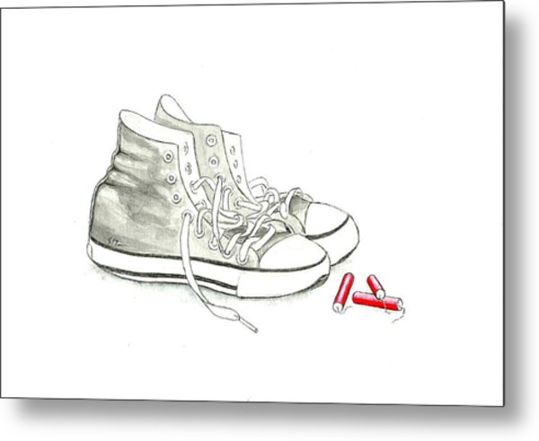 Jesse's Shoes Metal Print by Scott Manning
