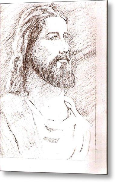Jesus Metal Print by Nevis Jayakumar
