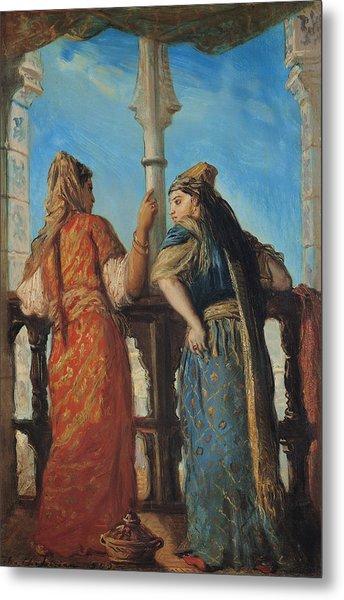 Jewish Women At The Balcony In Algiers Metal Print