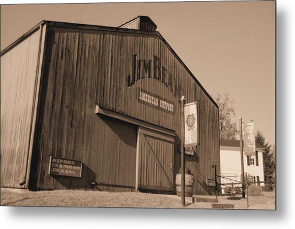 Jim Beam Distillery Sepia Metal Print