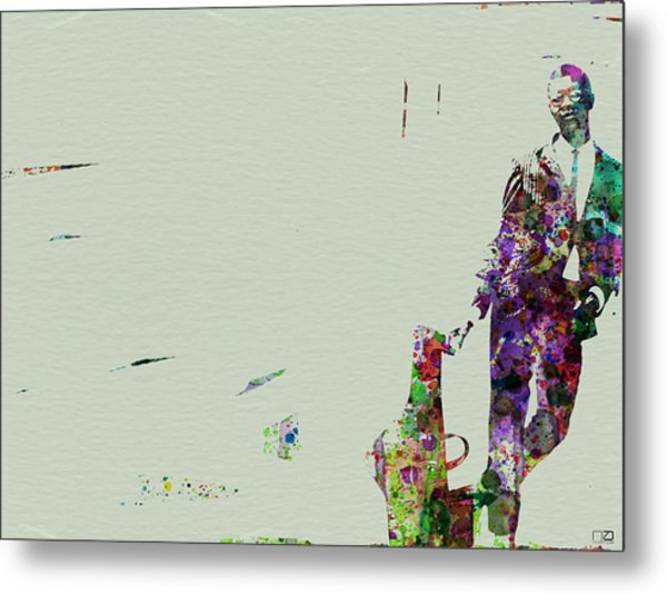 Joe Henderson Watercolor 2 Metal Print