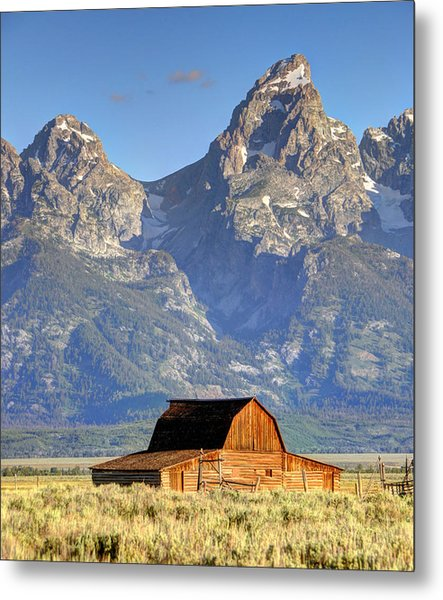 John Moulton Barn - Grand Teton National Park Metal Print