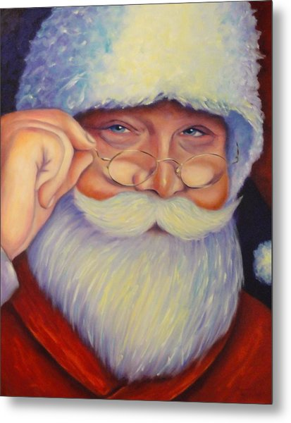 Jolly Old Saint Nick Metal Print