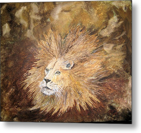 Joseph's Bad Hair Day Metal Print