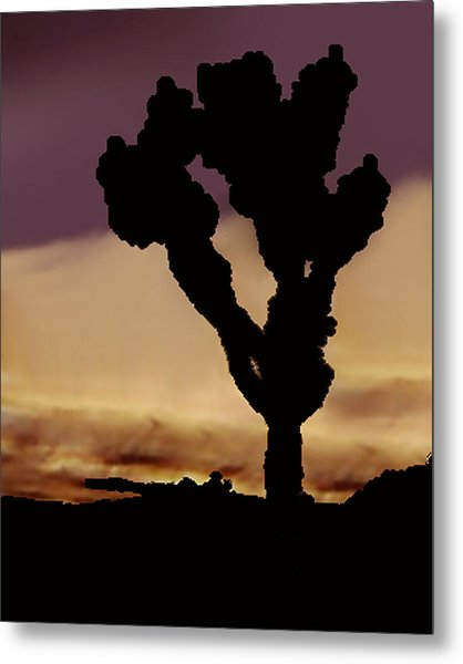 Joshua Tree Silo At Sunset Metal Print by Curtis J Neeley Jr