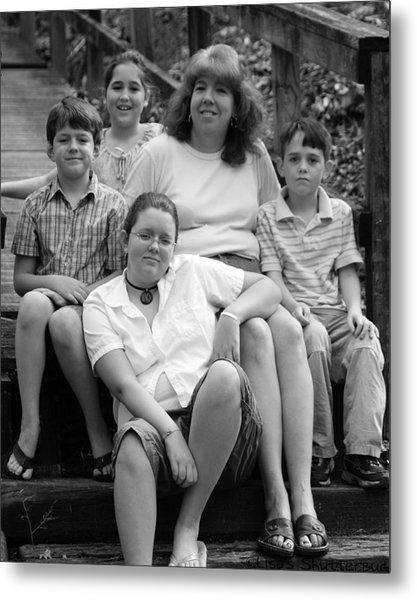 Julie's Family Metal Print by Lisa Johnston
