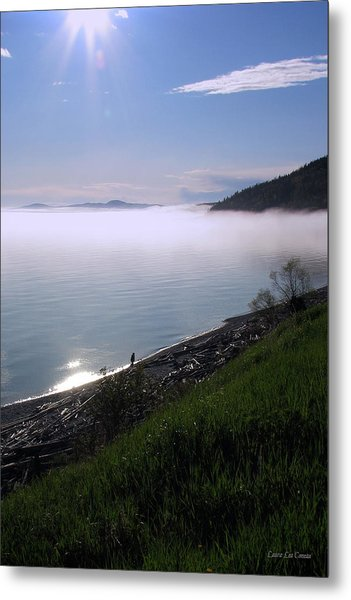 July Stroll On Lake Superior Metal Print by Laura Wergin Comeau