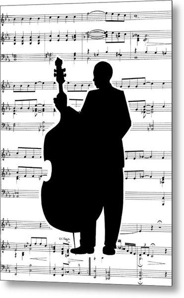 Just Jazz - Double Bass Metal Print by Di Kaye
