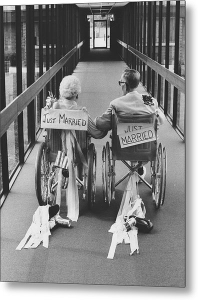 Just Married Metal Print by Jim Wright
