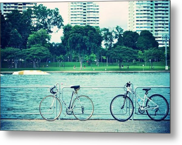 Just The Two Of Us Metal Print by Susette Lacsina