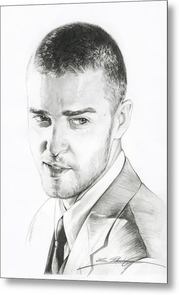 Justin Timberlake Drawing Metal Print